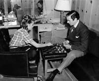 Costars Janet Leigh And Walter Pidgeon Playing Checkers On The Set Of OLD PHOTO