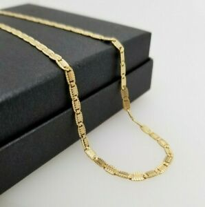 Ladies 18ct Three Toned Gold Chain Fancy Link 45cm Preloved RRP $1590