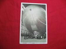 SALE! Postcard Japan LZ 127 Graf Zeppelin Airship Friedrichshafen Hangar 1930's