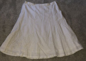 H&M White Cotton 100% Skirt Size 8 Brand New With Tag