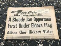 APRIL 3 1974 NATIONAL SPEED & SPORTS NEWS car racing newspaper - JAN OPPERMAN