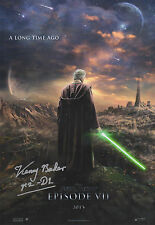 STAR WARS Episode V11 in person signed 12x8 - KENNY BAKER as R2D2