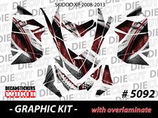 SKI-DOO XP MXZ SNOWMOBILE SLED WRAP GRAPHICS STICKER DECAL KIT 2008-2013 5092