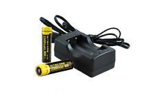 18650 Battery Charger Kit w/ 2x Nitecore NL183 18650 Rechargeable Batteries
