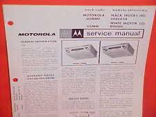 1967 MACK WHITE TRUCK MOTOROLA AM RADIO SERVICE SHOP REPAIR MANUAL BROCHURE 67