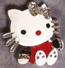 Pewter Belt Buckle Cartoon Hello Kitty NEW red shirt