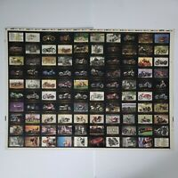 1992 Harley Davidson Collector's Cards Uncut Sheet Trading Cards Motorcycle