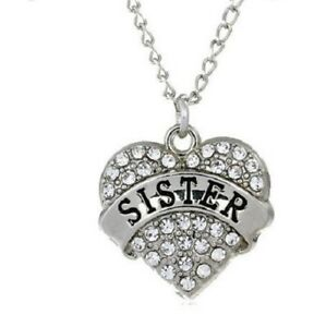 MUM CRYSTAL LOVE HEART SILVER PENDANT NECKLACE.. 1