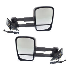 New Set of 2 Power Heated Towing Mirrors for Chevrolet/GMC Truck 2014-2017 Pair