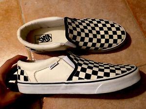 Scarpe Vans Classic Slip-on Checkerboard Taglia 43 MAI USATE