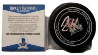 ALEX WENNBERG  SIGNED NHL OFFICIAL GAME PUCK COLUMBUS BLUE JACKETS BECKETT COA
