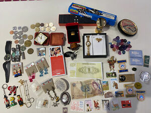 Coins Euros Jewellery Bracelet Brooches Erotic Playing Cards CB Radio Pin Bundle