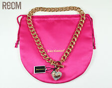 Juicy Couture Crown Toggle PAVE BANNER HEART STARTER NECKLACE Rose gold Color