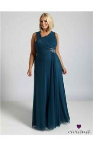 New with tags! RRP £249 Size 14 DynastyTeal Drape Evening Dress