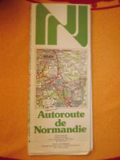 Carte michelin 55 autoroute de normandie 1983
