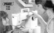 Pfaff 1196 1199 Sewing Machine Manual on CD
