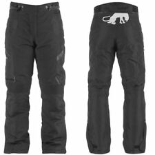 Pantalones negros textiles de invierno para motoristas