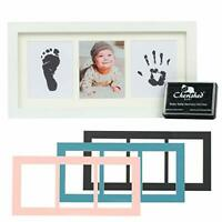 Fingerprint Molding Kit double memory frame natural wood color Baby HandPrint