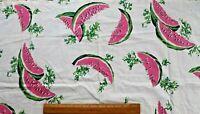 "Vintage c1950 American Watermelon Cotton Conversational Fabric~L-25"" X W-34"""