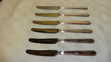 VINTAGE Set di 6 COLTELLI TAVOLA Placcato Argento Walker & Hall-Scottish & Newcastle