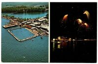 Monticello Indiana Aerial Multiview Postcard Indiana Beach On Lake Shafer #76837