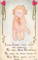 B90/ Valentine's Day Love Holiday Postcard c1910 AMC Cleveland Ohio Glove 20