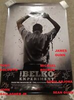 THE BELKO EXPERIMENT SIGNED MOVIE POSTER JAMES GUNN+JOHN GALLAGHER+TONY GOLDWYN+