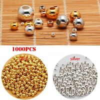 Wholesale Metal Round Spacer Beads Smooth Ball End Seed Bead For Jewelry Making~