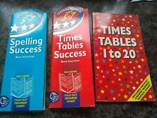 Age 5-7 Time Table Success & Spelling Success, time tables 1-20 Paperback books