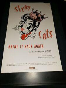 Stray Cats Bring It Back Again Rare Original Radio Promo Poster Ad Framed!
