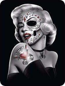 Queen Marilyn Monroe Zombie Dead Pinup Sugar Skull Faux Fur Blanket Super Plush