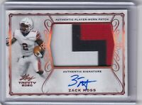Zack Moss 2020 Leaf Trinity 3 Color Patch Rc On Card Auto