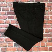 Ann Taylor Loft Modern Skinny Jeans Womens Size 14P 14 Petite Black Denim