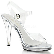 Clear Nude Bikini Contest Heels Fitness Pageant Competition Shoes Stripper 7 8 9