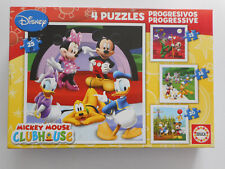 4 Puzzles progressifs Disney - Mickey Mouse Club (12, 16, 20 et 25 pièces)