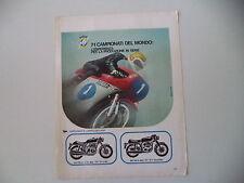 advertising Pubblicità 1973 MOTO MV AGUSTA 750/350