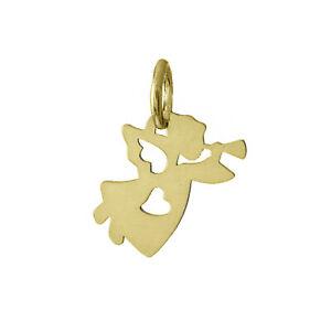 9ct 375 Yellow Gold Angel Pendant Charm