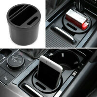 Car Auto Seat Black Storage Box Organizer Coin Phone Gadget Cards Cup Holders