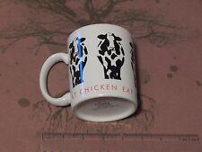 "Ceramic Coffee MUG_CUP - ""Eat Chicken"" - PAPEL (Free Ship.) Cow_Bovine"
