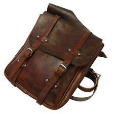 ROKKER saddle Bolsa Marrón de cuero de vaca en Aspecto Vintage Diseño