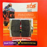 CAGIVA 125 MITO 93 > ON SBS FRONT BRAKE PADS RACE DUAL CARBON 566DC