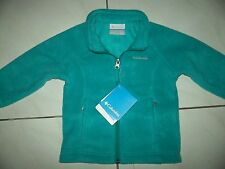 New COLUMBIA Fleece JACKET Boy Size 2T *Turquoise $32