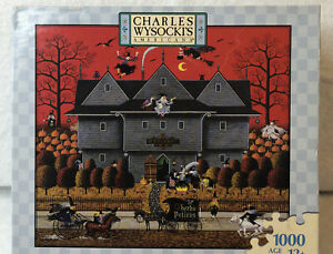 Charles Wysocki Puzzle Witch's Brew Unused & Sealed 1000 Pieces Halloween