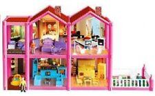 Großes Puppenhaus +Puppen +Möbel Puppenstube Spielhaus Dollhouse Spielzeug Kind