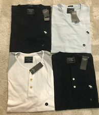 Abercrombie & Fitch Men's Tee shirts Multi-color New with tags LOT of 4 Small