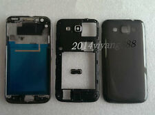 Black Housing Case Cover + Button Replacement For Samsung Galaxy Win i8552 i8550