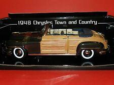 Sun Star 1/18 1948 Chrysler Town & Country (Woody) Gunmetal Grey MIB