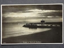 Northern Ireland SUNSET AT PORTRUSH HARBOUR c1945 RP by J. Salmon 8459