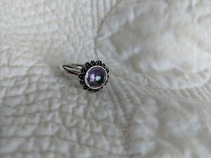 PANDORA Sterling Light Amethyst Ring - Size 9 - RETIRED!
