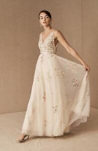 New BHLDN x Needle & Thread Petunia Gown sz 2